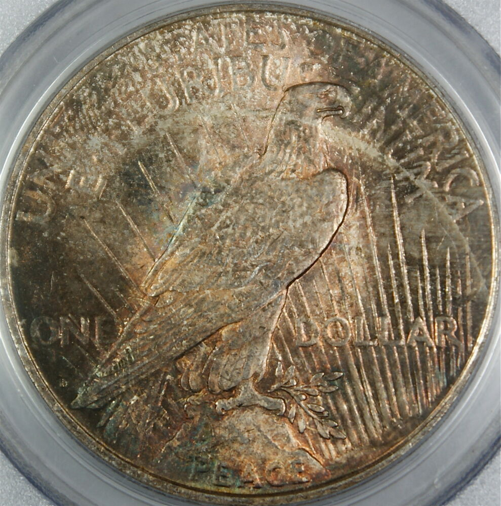 1922 D Peace Silver Dollar Coin Pcgs Ms 63 Beautifully
