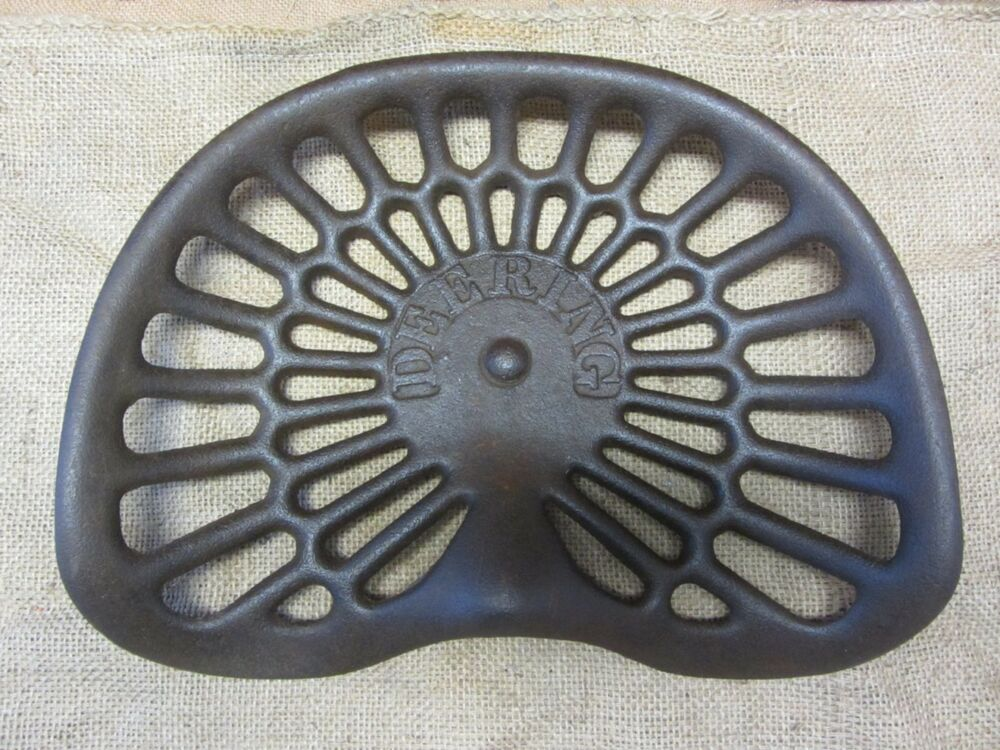 Old Tractor Seats Steel : Vintage deering cast iron tractor seat antique farm tools
