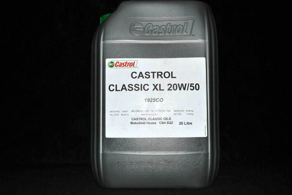 20 liter castrol classic xl 20w 50 motor l 20w50 oldtimer. Black Bedroom Furniture Sets. Home Design Ideas