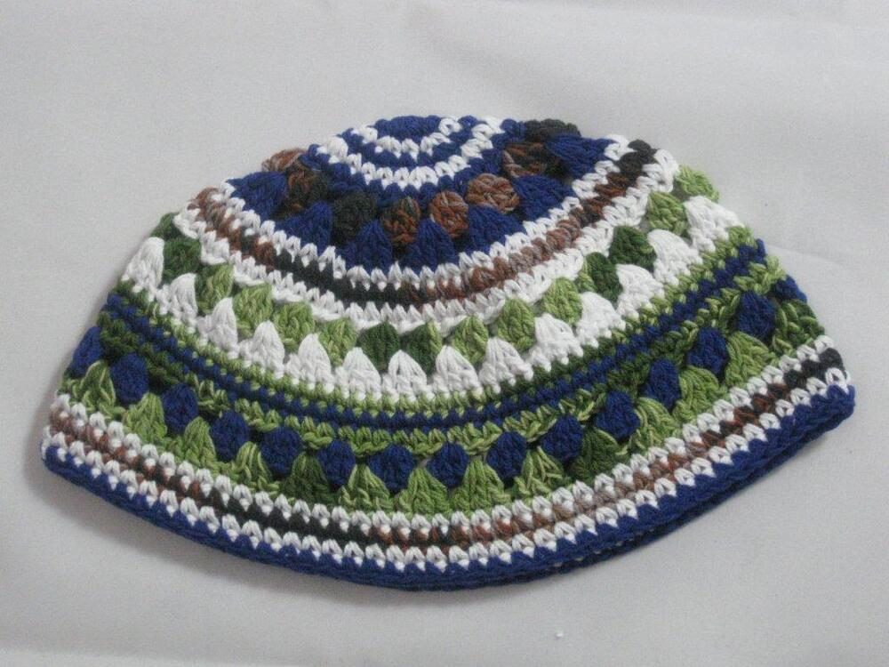Crochet Patterns For Yarmulke : Kippah Jewish Hat Kippa Knit Yamaka Kippot Frik Kippot ...