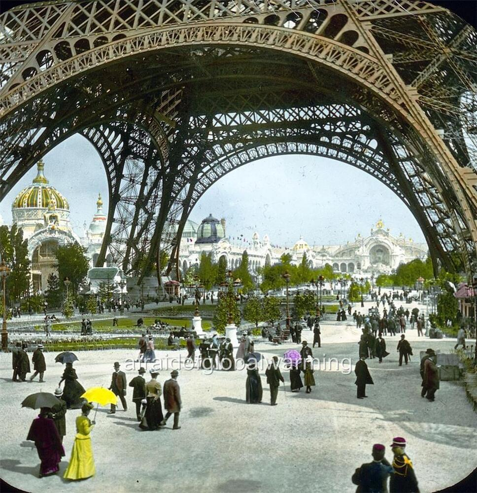 photo 1900 france paris expo crowds eiffel tower ebay. Black Bedroom Furniture Sets. Home Design Ideas
