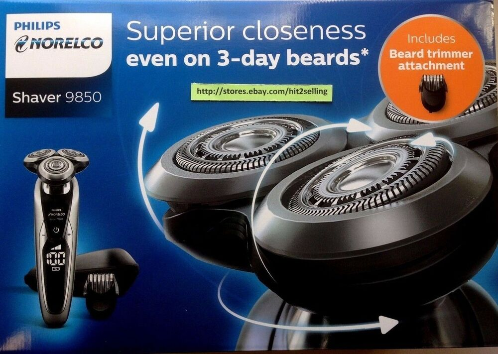 philips norelco shaver 9800 beard stubble trimmer travel case new in box ebay. Black Bedroom Furniture Sets. Home Design Ideas