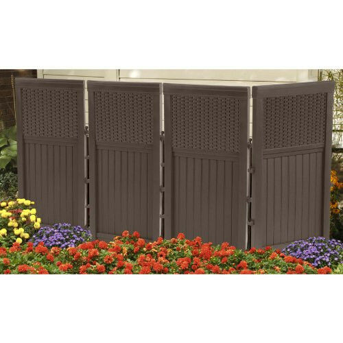 Suncast Fsw4423 Resin Wicker Outdoor Screen Enclosure 4