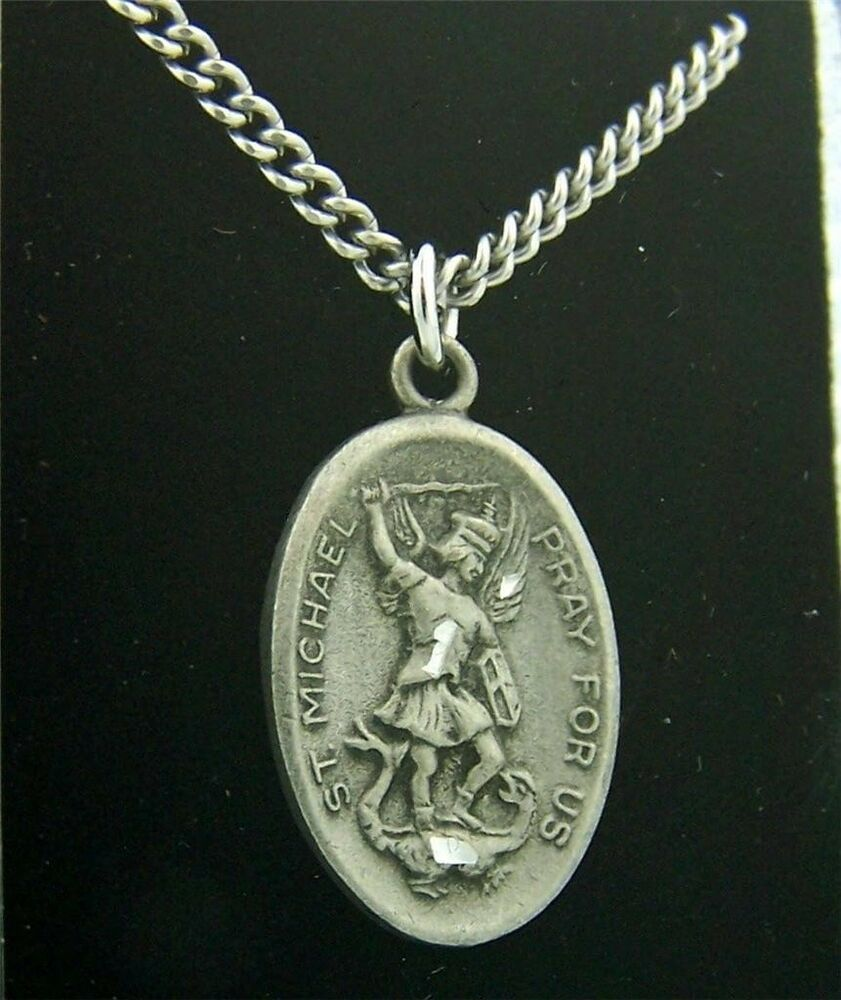 silver pewter 100 pewter archangel pray for us