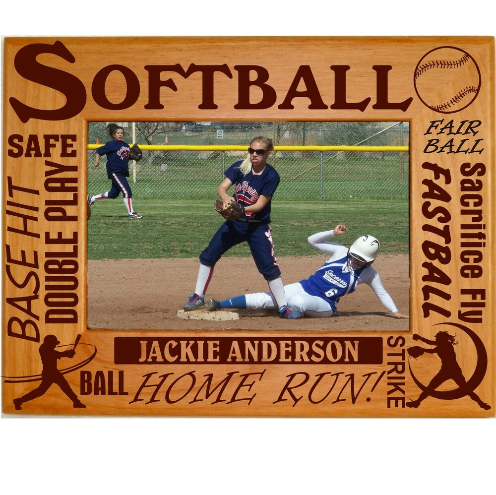 Personalized Softball Picture Frames 4x6 5x7 8x10 Team