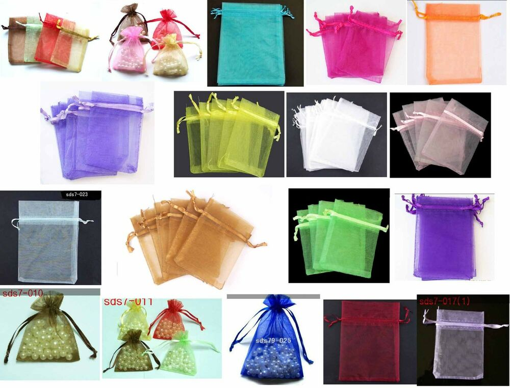 Gift Bags Bulk Wedding Uk : ... Organza Pouch Wedding Jewellery Gift Bag 7cmx9cm wholesale eBay