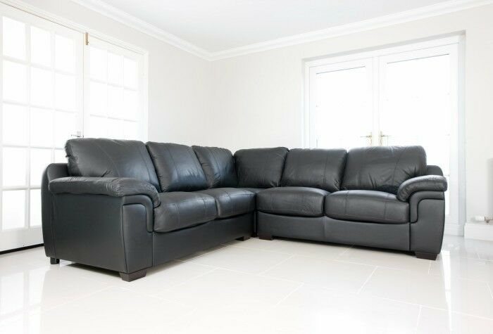 new faux leather corner sofa suite in brown black or ebay