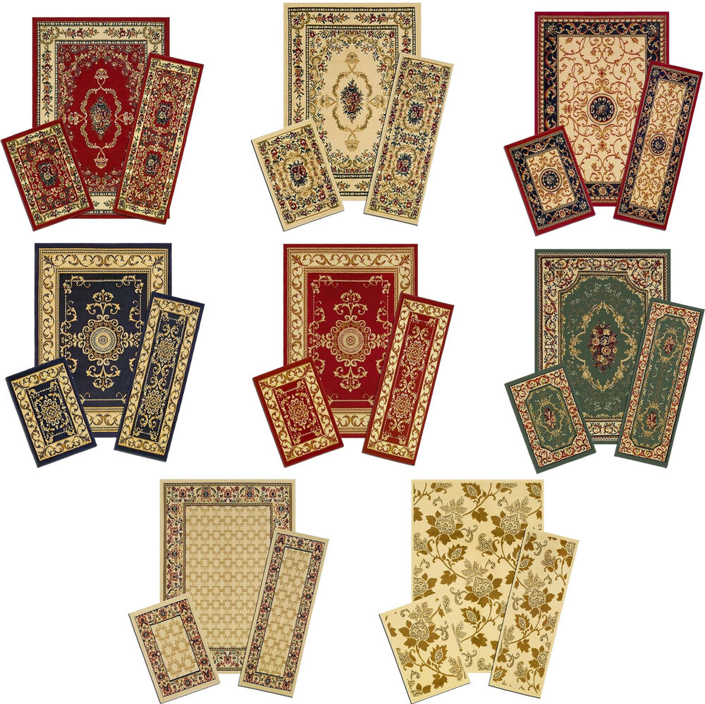 traditional accent mat runner area rug 3 set 87781