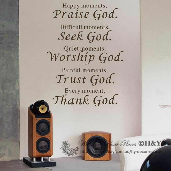 Christian wall art quote removable vinyl decal stickers for Christian wall mural