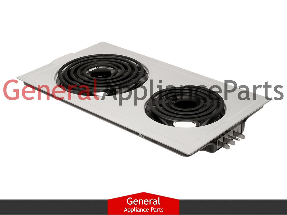 Jenn-Air Designer Line Cooktop White Electric Coil Element ...