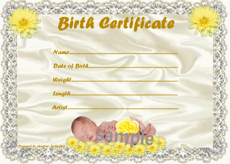 Lace edged birth certificate certificates 4 reborn fake baby approx 7quotx 5quot ebay for Reborn birth certificate