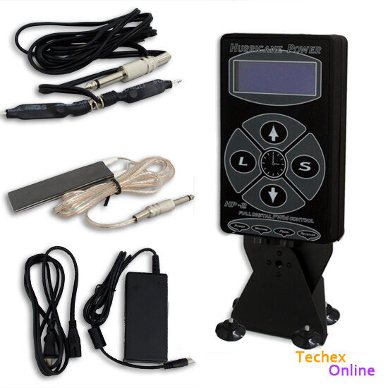 Dual digital hurricane black tattoo power supply foot for Tattoo supplies ebay