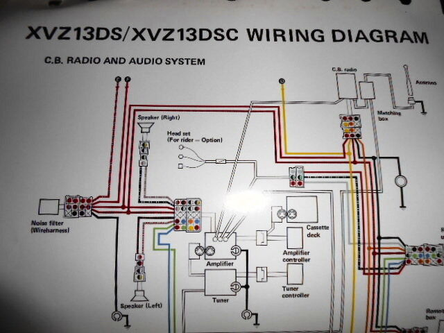 Yamaha Oem Factory Color Wiring Diagram Schematic 1986 Xvz13ds Xvz13dsc Cb Radio