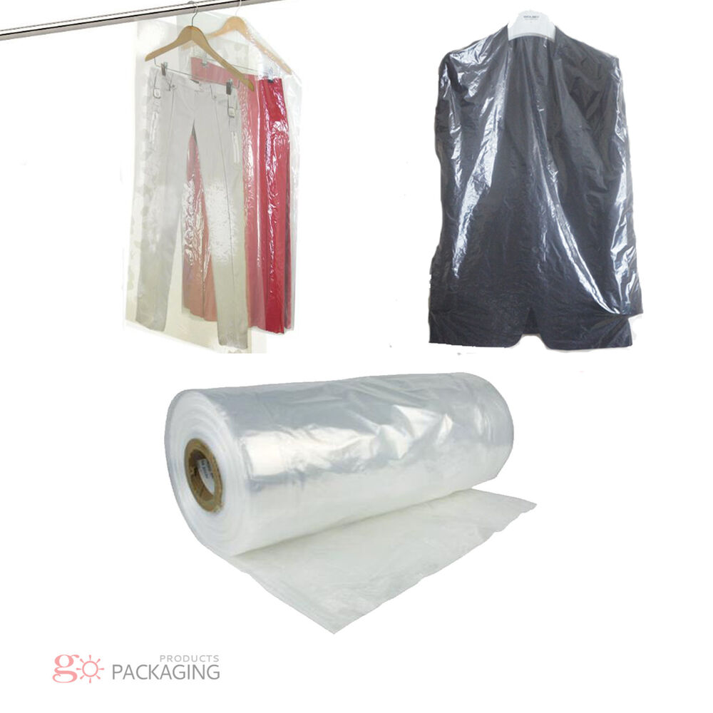 garment_Garment Cover Clear Polythene Bags 72 Dry Cleaner Laundary Clothes Packing | eBay