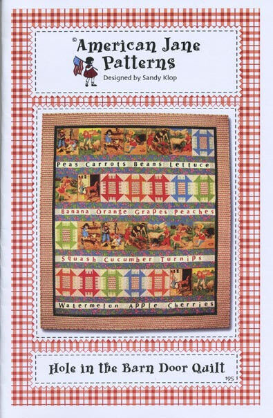 Quilt pattern hole in the barn door quilt by american for Red door design quilts