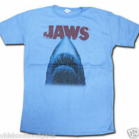 Jaws T Shirt - Blue Distressed Poster 100% Official US Import Speilberg Horror