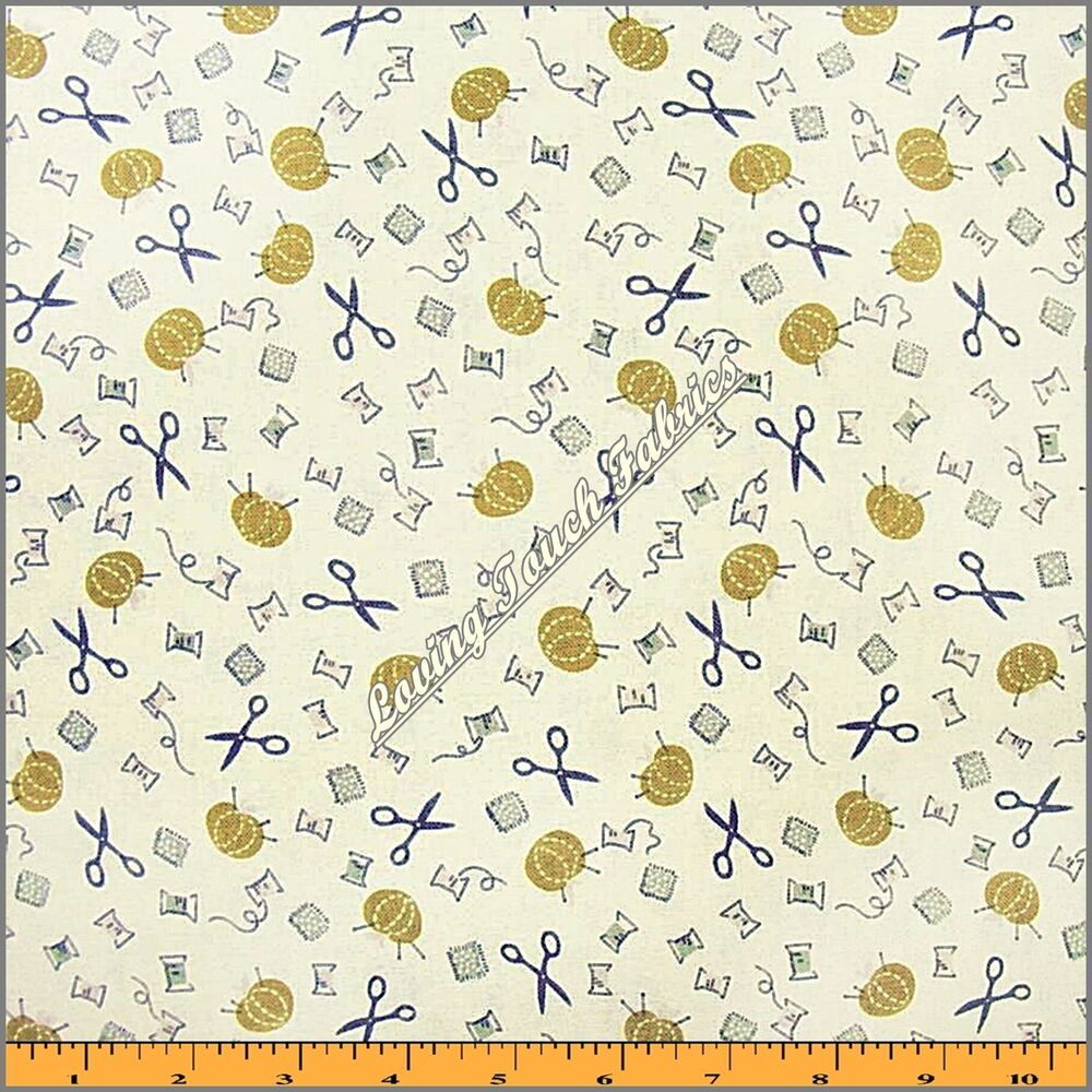 Anna griffin pinelope sewing theme notions scissors for Dressmaking fabric