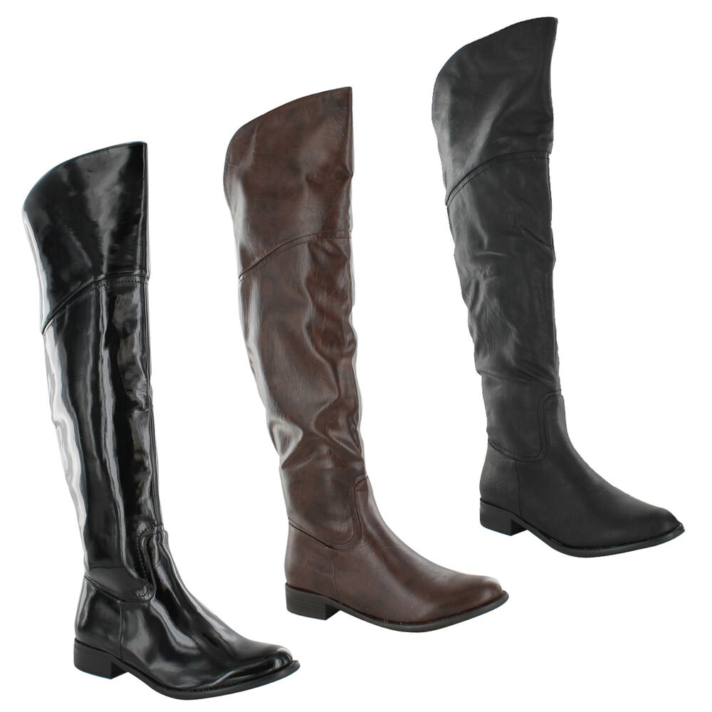 New Ladies Riding Winter Equestrian Knee High Long Boots