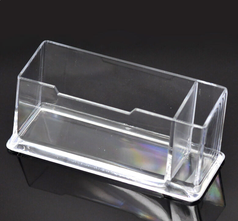 1PC Clear Plastic Business Card Holder Stand Display with