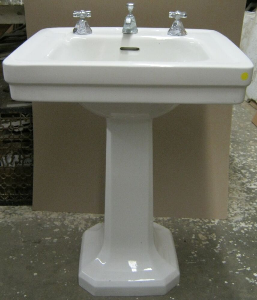 Antique China Bathroom Pedestal Porcelain Sink American