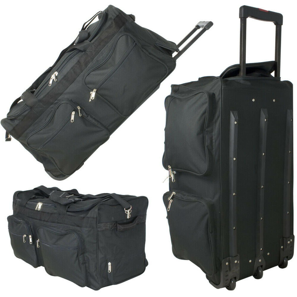 xxl reisetasche 128l jumbo trolley sporttasche 3 rollen. Black Bedroom Furniture Sets. Home Design Ideas