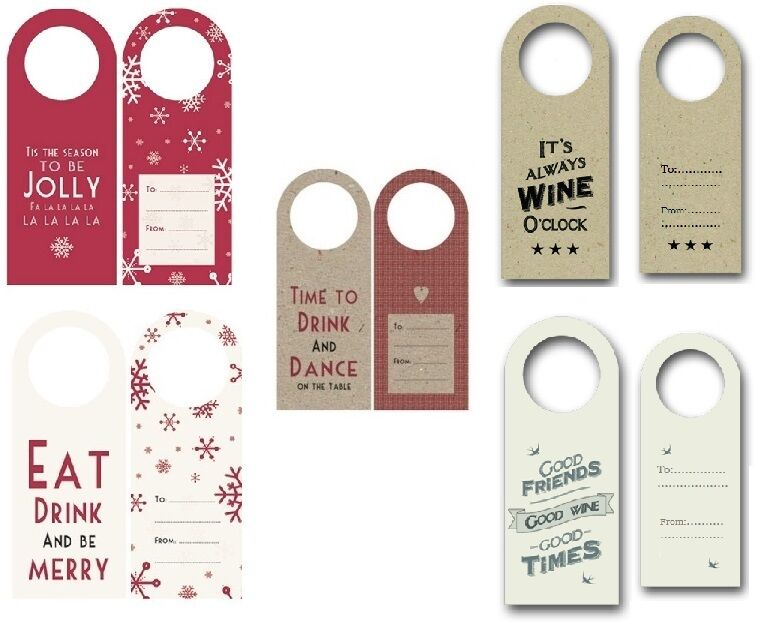 Tagged Messages: EAST OF INDIA PACK OF 4 CHRISTMAS XMAS WINE BOTTLE TAGS