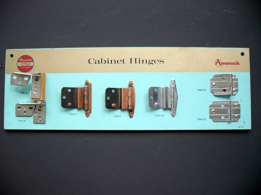 Vintage 1950 S Amerock Cabinet Door Hinge Sample Display