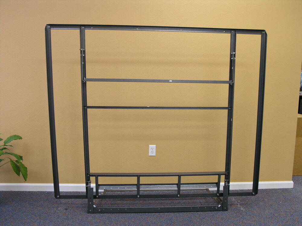 Murphy bed side folding all steel frame hardware queen for Murphy wall beds hardware
