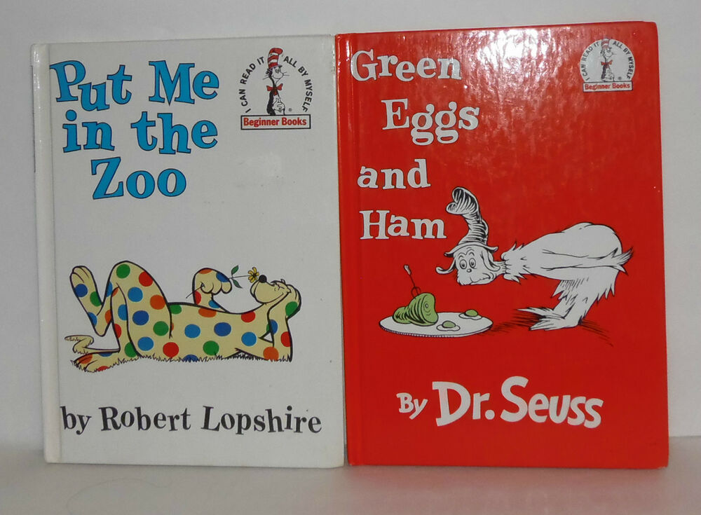 Set of 2 dr seuss books 1988 green eggs and ham for Dr seuss put me in the zoo coloring pages