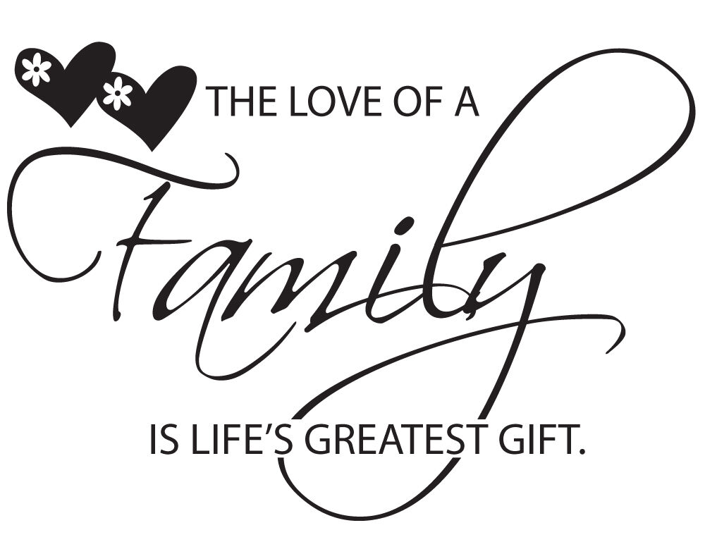 "Inspirational Quotes About Family: ""The Love Of A Family Is Life's Greatest Gift"