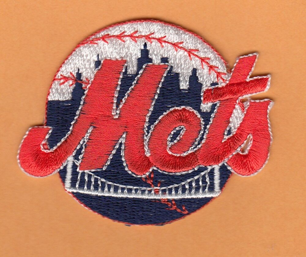 Old New York Ny Mets 3 Inch Embroidered Logo Iron On Patch