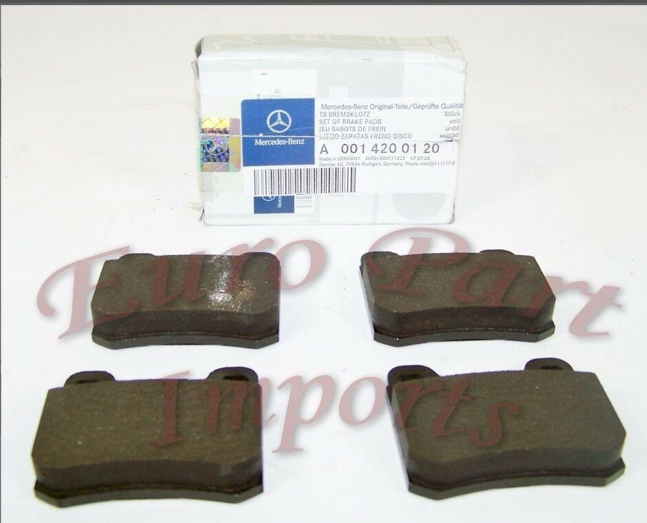 Mercedes benz rear brake pads germany genuine oe for Mercedes benz rotors and pads