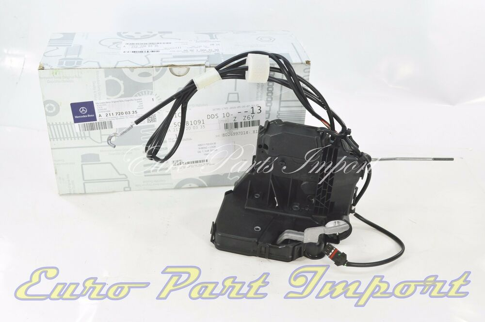 Mercedes left front door lock actuator germany genuine w o for Door lock germany