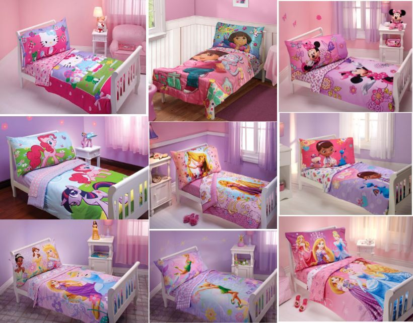 GIRLS 4PC TODDLER BEDDING SET