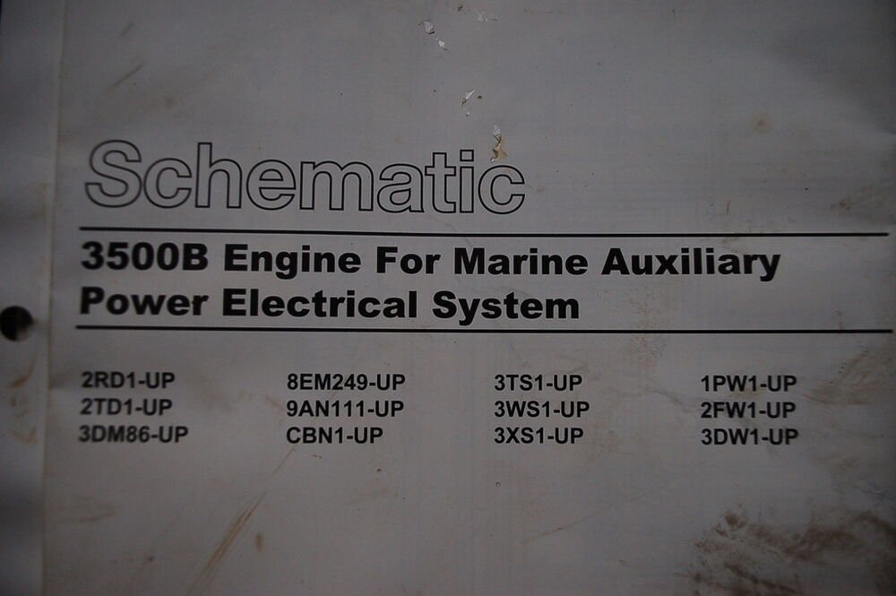 Caterpillar 3500b Engine Wiring Schematic Manual Marine