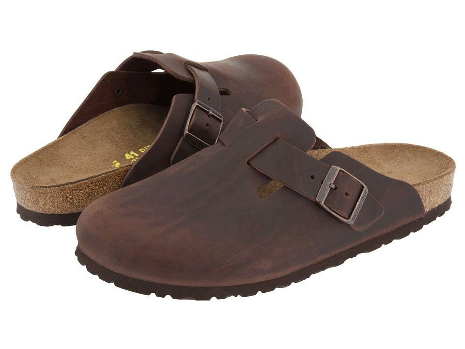 birkenstock boston leather habana clogs
