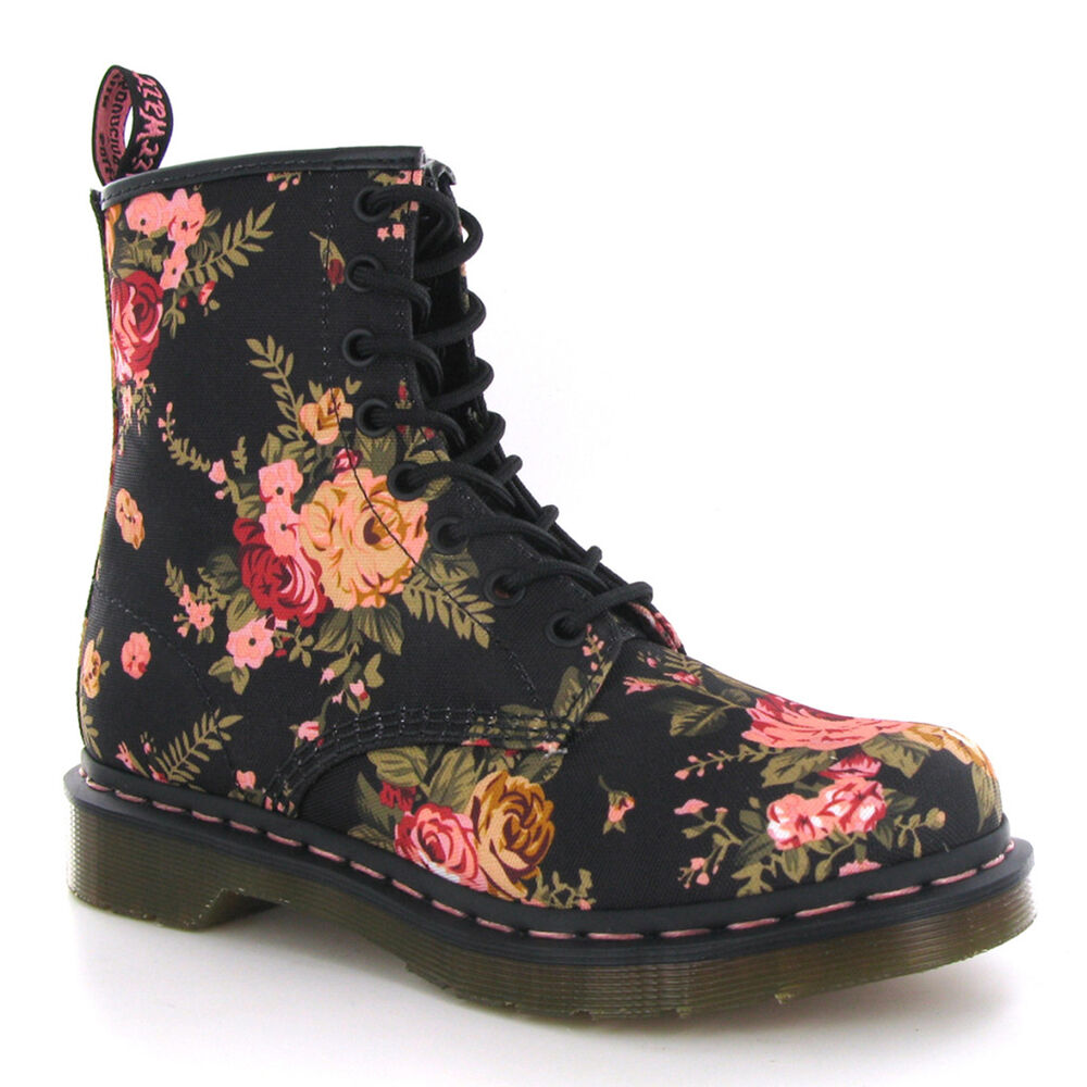 Dr martens 1460 victorian flowers womens boots ebay for Amazon dr martens