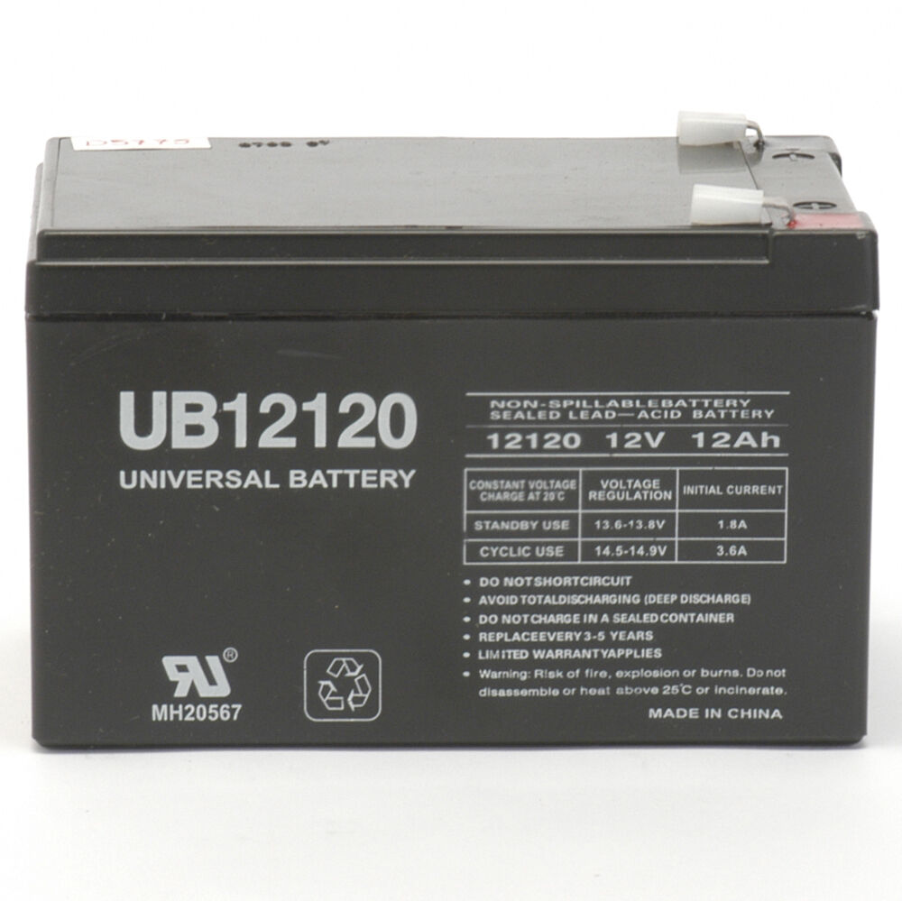 upg ub12120f2 12v 12ah f2 6 dzm 12 ups apc scooter medical rechargeable battery ebay. Black Bedroom Furniture Sets. Home Design Ideas