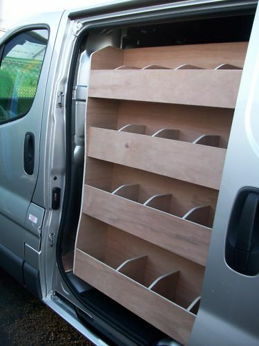 Nissan Primastar Side Door Ply Van Racking Shelving