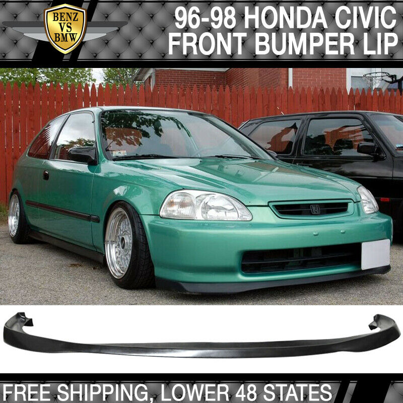 98 Acura Integra Type R For Sale: Fits 96-98 Honda Civic SIR Front Bumper Lip Unpainted