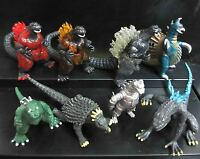 lot of 8 Godzilla Monsters  Figure set Mecha Fire Godzilla Gigan