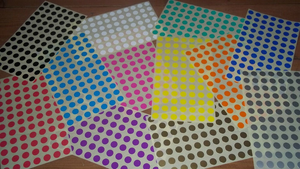 13mm 1 2 inch round blank price stickers colour code for Half inch round labels