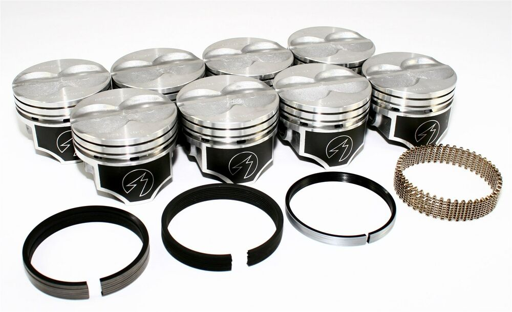 Sealed Power Chevy 400 4 155 Quot Flat Top Pistons Amp Moly Ring