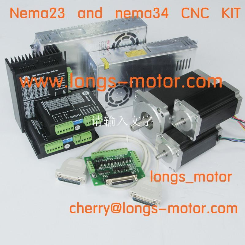 Top recommand nema23 425oz in nema 34 1232oz in 3axis kit for Best router motor for cnc