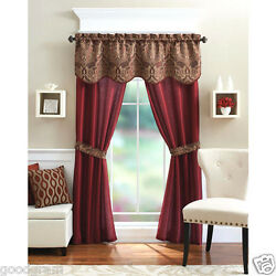 Kyпить Unique 5 Piece Complete Window Curtain Set With Tiebacks - Assorted Colors на еВаy.соm