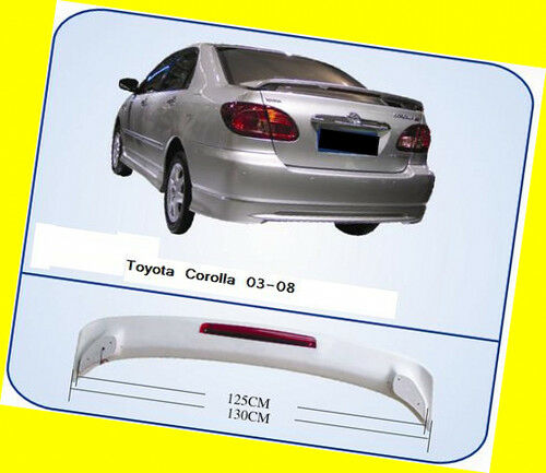 Trunk Spoiler For Toyota Corolla 03-08 OE Style W/ LED