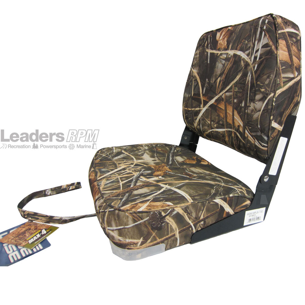 Wise New Fishing Boat Seat Chair Wetlands Camo Composite
