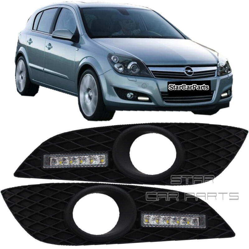 led tagfahrlicht tfl chrom opel astra h facelift auch. Black Bedroom Furniture Sets. Home Design Ideas