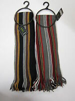 GL347 Mens Knitted Striped College Scarf * Available in 2 colours*