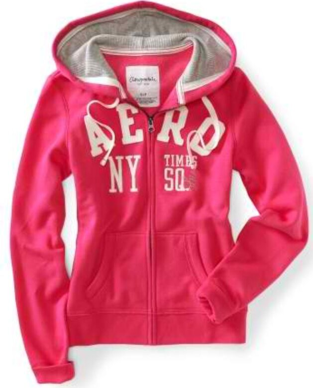 NEW Pink Aeropostale Aero Womens NY Times Square Full Zip ...